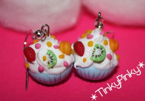 fruity cupcakes earrings by tinkypinky