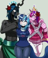 :gift: Genderswap Shining,Cadence and Chrysalis by ss2sonic