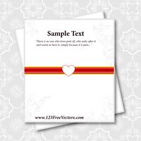 Valentines Day Card Vector by 123freevectors