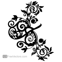 Hand Drawn Swirl Floral Vector Image by 123freevectors