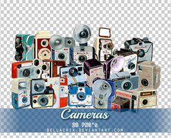 Cameras PNGs by Bellacrix