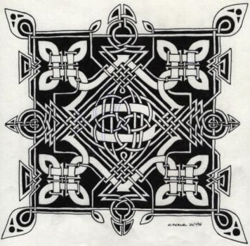 square knotwork by herbevore