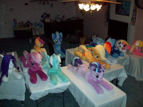 Life size plush stable by Vile-Flesh