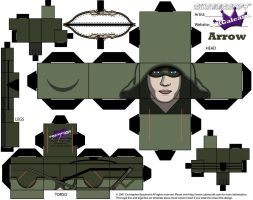 Arrow Cubeecraft by SKGaleana without beard by SKGaleana