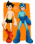 SSanta AstroBoy and MegaMan by Midreky