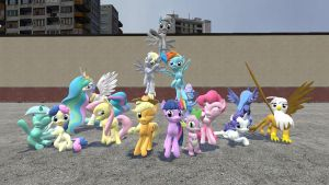 G-Mod Ponies Group Photo by Jokiu