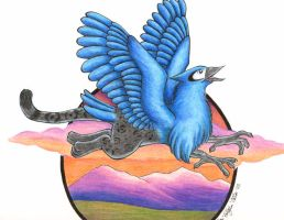 Blue Jay Gryphon by hollyann