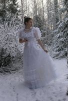 Bride in the snow 15 by Eirian-stock