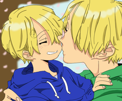 lil Sanji and big Sanji. by Goldfish-24-7
