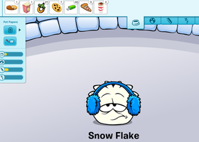 My Puffle: Snowflake by Little0rca