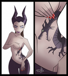Maleficent, the girl with the dragon tattoo by digital-vox