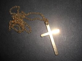 Gold Cross by Stock-Karr