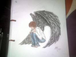 lonely angel boy by beccahanks