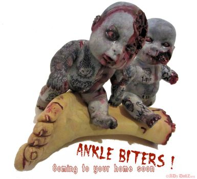 Ankle Biters - custom zombie infant dolls by ADzArt