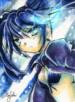 Black Rock Shooter ACEO by Sekaia