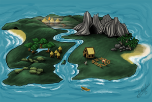 Dog Sim Commission Map by Aelyaniara