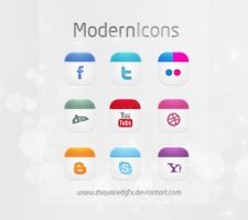Modern Icons Set | Social Icons FREE PSD by dsquaredgfx