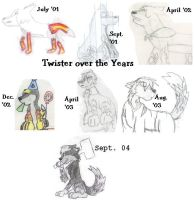 Twister Over The Years by MasterDoggeh