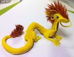 Yellow dragon - what is this by HandmadeDragons