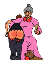 Gender Equality - 3: Gruesome Granny by rarefreak
