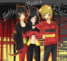 Germany's three dogs (APH human style) by ChiakiTasso