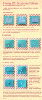 Sewing 102: Decorative Stitches by ShadowedPorcelain