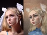 sad doll (before and after) by IrinaPonochevnaya
