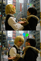 Hey guys look! It's Shizuo and Izaya! Kissy Kissy! by NaruForeverSasu