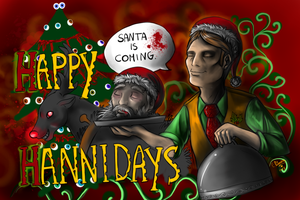 Happy Hannidays 4 - Santa is coming by FuriarossaAndMimma