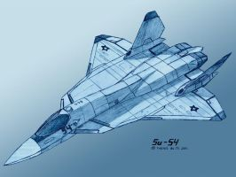Sukhoi Su-54-3 pencil by TheXHS