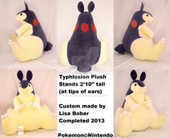 HUGE Typhlosion Plushie by TakShadoWing