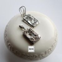 silver set What willows are humming about? by dora-designstudio