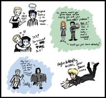 True Blood and AVPS doodles by blackbirdrose