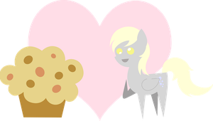 Pointy Love - Derpy x Giant Muffin by 2kaze
