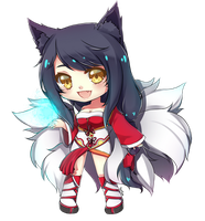 LoL Chibi Ahri by xYum-Yumx