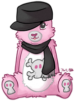 Skulls and Pink by wolfie-janice
