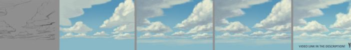 How to paint clouds tutorial by JesusAConde