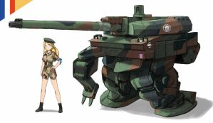 Leclerc style Powered exoskeleton. by QU-RO-QURO