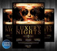 Luxury Night Party Flyer Template by Grandelelo