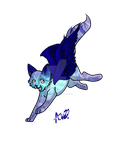 Pose in leap mode Ampheoxus by MidnightsBloom