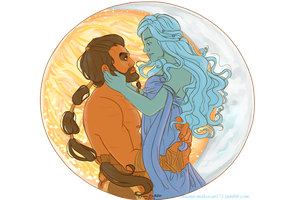 Khal and Khaleesi by naomi-makes-art73