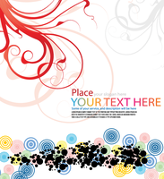 Vector Floral Background with Colorful Circles by 123freevectors