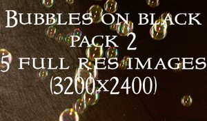 Bubbles on Black Pack 2 by RLDStock