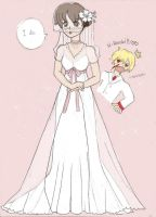 Haruhi's wedding dress by angel-smw