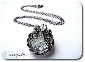 The Dew - rheinstone rock crystal and fine silver by nurrgula