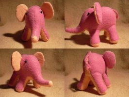 Pink Elephant by halo8