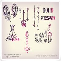 Boho Elements PS brushes by iCatchUrDream