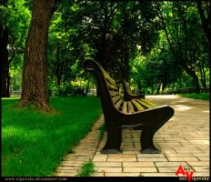 In a city park by ukraine-photo