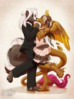 Valden and Shinoxin by Plaguedog