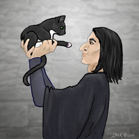 Severus Meets Little Snarks by wobbler1957